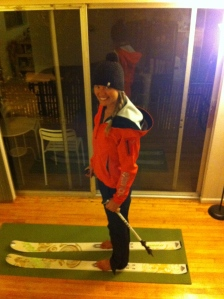 The Girl on new skis!